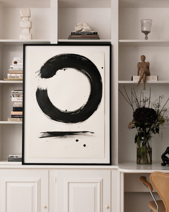 Sumi-e Bold Ensō - Painting - Pia Hutters